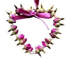 Rose Bud Heart: Pearl Beads (2 sizes available)